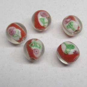 Lampwork kwiat 12mm
